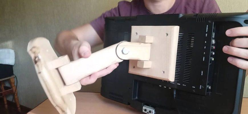 kreplenie pod televizor na stenu svoimi rukami